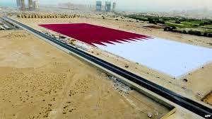 qatar big flag